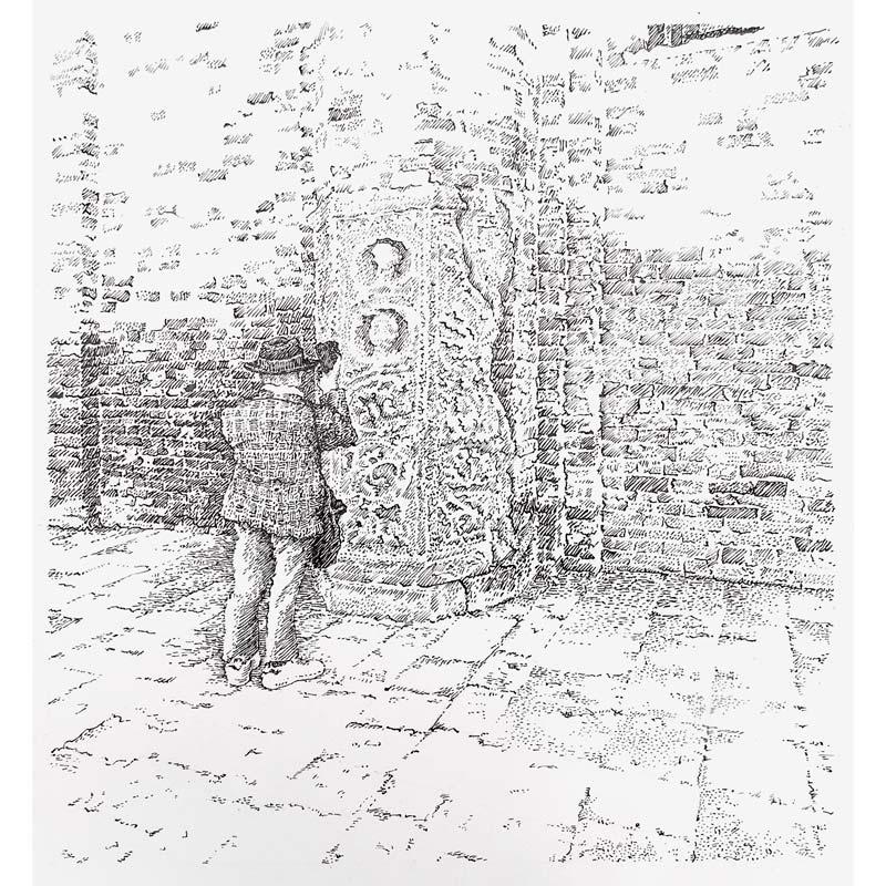 Plaid Man by Peter Scott