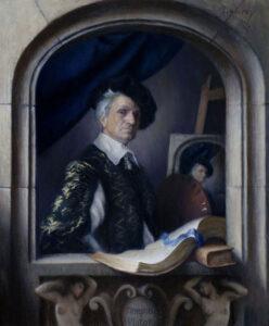 Self-portrait as a 17th Center Artist by David Lowrey