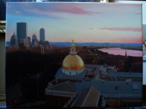 A view of back bay from Beacon Hill by Yoshi Mizutani