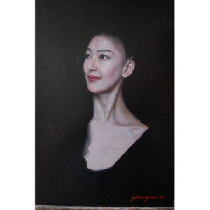 A portrait of a dancer by Yoshi Mizutani