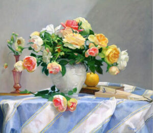 Bouquet of Roses by Theresa Pergal