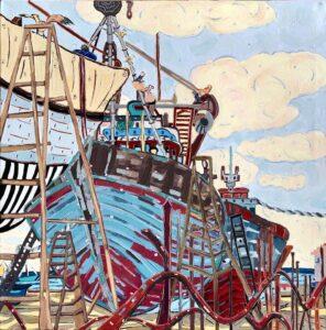 Saving the Ark painting by Nan Hass Feldman