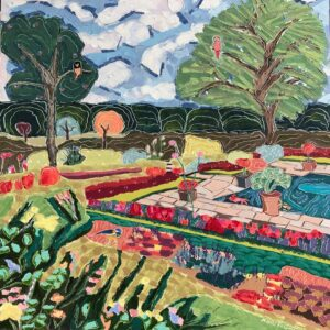 The Pink Tree in Kensington Garden painting by Nan Hass Feldman