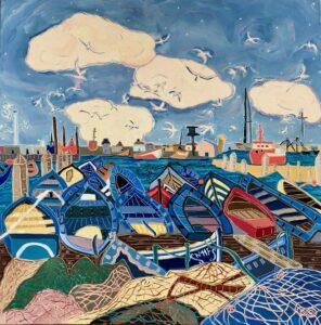 Too Breezy for the Boats painting by Nan Hass Feldman