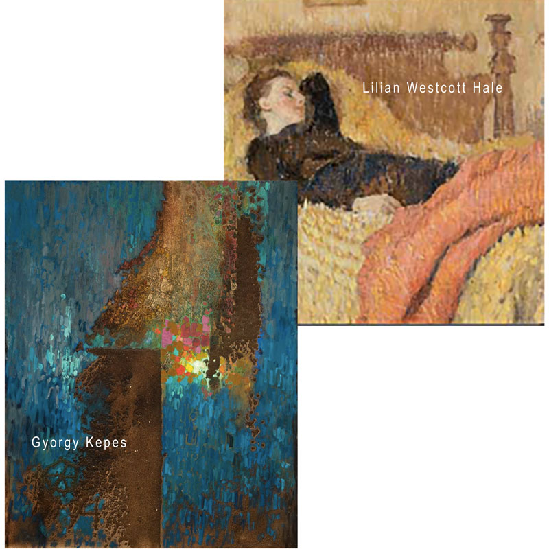 Paintings by Gyorgy Kepes and Lillian Hale