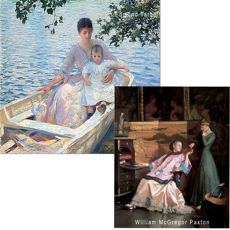 Paintings by Edmund Tarbell and William McGregor Paxton