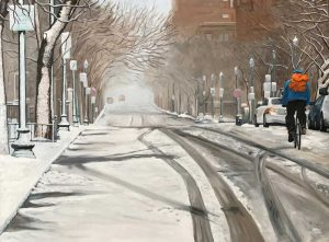 Snowy Bike Lane by Jim Connelly